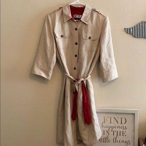 Kaspar Linen blend coat style dress
